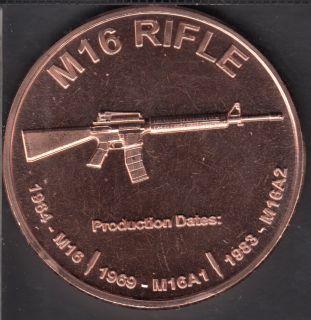 M 16 Rifle- 1 oz .999 Fine Copper
