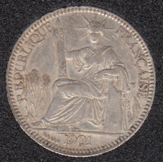 1901 - Indo China - 10 Centimes - Silver