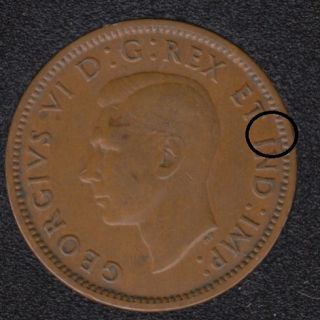 1940 - Break I to Rim - Canada Cent