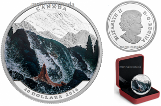2016 - $20 - 1 oz. Fine Silver Coloured – Landscape Illusion - Salmon