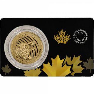 2014 Canada $200 Loup Hurlant en Or Fin - 1 Troy Oz .9999 - RARE - SANS TAXE