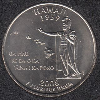 2008 P - Hawaii - 25 Cents