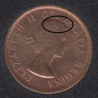 1963 - Double 'Head' - Canada Cent