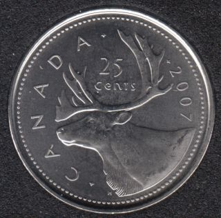 2007 - B.Unc - Canada 25 Cents