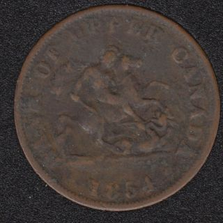P.C. 1854 One Half Penny Bank Token - PC5C2