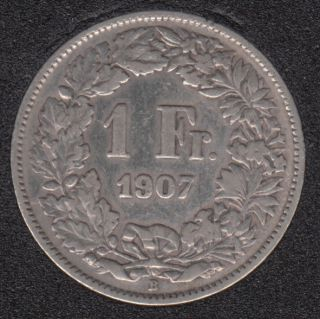 1907 B - 1 Franc - Suisse