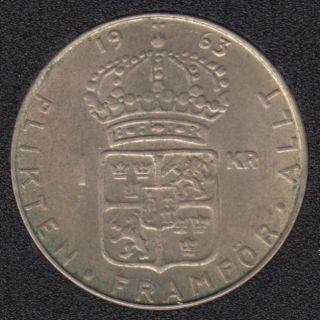 1963 U - 1 Krona - Suede