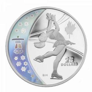 2008 - $25 - Argent Sterling - Patinage Artistique - Jeux Olympiques Hiver - Vancouver 2010