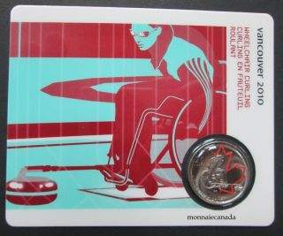 2010 - 25 cents - Vancouver – Wheelchair Curling Circulation Sport Cards