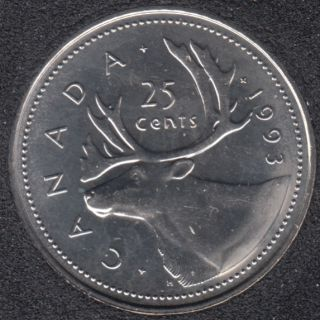 1993 - B.Unc - Canada 25 Cents