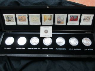 2012-2013 - $20  Complete Group of Seven Set - Recieve all 7 x  Group of Seven $20 Fine Silver coins