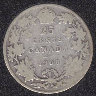 1908 - Canada 25 Cents