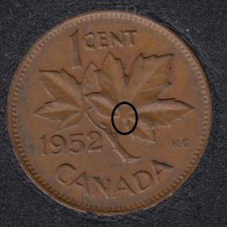1952 - Dot on ML - Canada Cent