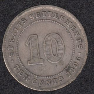 1896 - 10 Cents - Straits Settlements