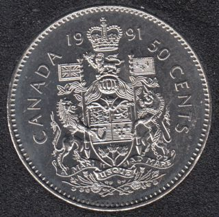 1991 - B.Unc - Canada 50 Cents