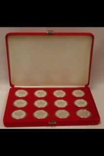2004 - $5 - 1 oz Fine Silver Maple Leaf Zodiac Privy Mark 12-coin set with Box & coa