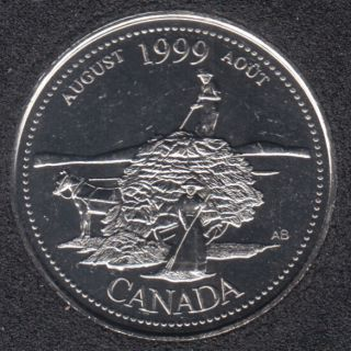 1999 - #8 B.Unc - August - Canada 25 Cents