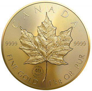 2019 - $2500 - Pure Gold One Kilogram Coin - 40th Anniversary of the Gold Maple Leaf (GML)