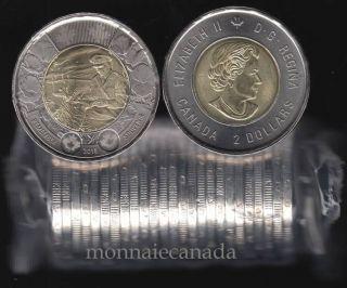 2015 CANADA $2 DOLLARS - IN FLANDERS DIELD - BU ROLL 25 COINS - UNC