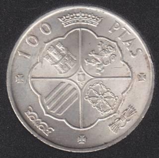 1966 (68) - 100 Pesetas - Argent - Espagne