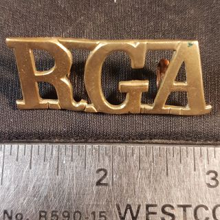 #142 Royal Garrison Artillery RGA WW1 Royal Garrison Artillery RGA Shoulder Title
