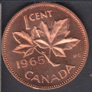 1965 - #3 B.Unc - LBB5 - Cameo - Canada Cent