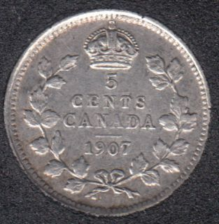 1907  - EF - Canada 5 Cents