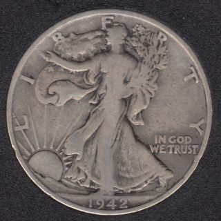 1942 S - Liberty Walking - 50 Cents