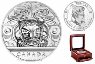 2016 - $500 - 5 Kilogram Pure Silver Coin – Charles Edenshaw: Argillite Chest
