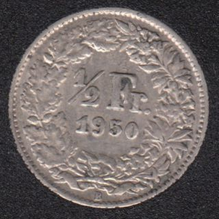 1950 B - 1/2 Franc - Suisse