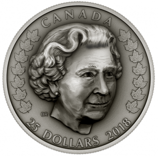 2018 - $25 - Pure Silver Coin - Her Majesty Queen Elizabeth II: Matriarch of the Royal Family