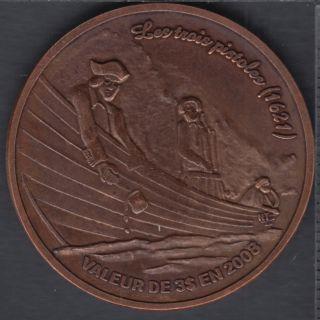 Trois-Pistoles / Les Basques - 2008 - La Légende des Trois-Pistoles - (Cuivre oxidé 125 pcs) $3 Trade Dollar