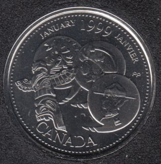 1999 - #1 NBU - January - Canada 25 Cents
