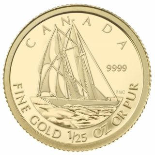 2012 - 50 Cents - - 1/25 Ounce Gold Coin The Bluenose