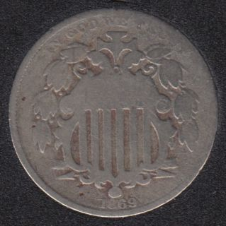 1869 - Shield - 5 Cents