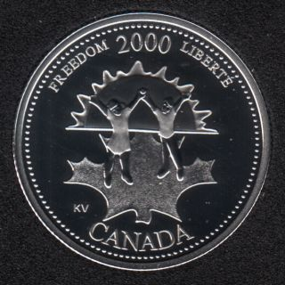 2000 - #911 Proof - Silver - Freedom - Canada 25 Cents