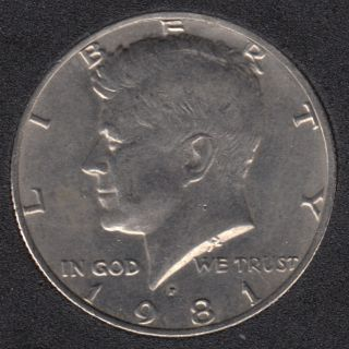 1981 P - Kennedy - 50 Cents