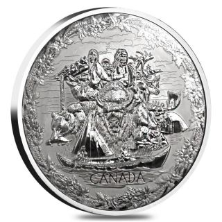 2007 - $250 - Fine Silver Proof - 1 Kilo Olympic Games Early Canada