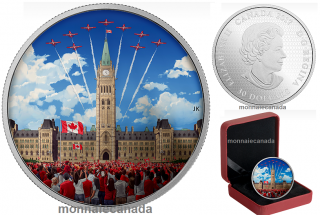 2017 - $30 - 2 oz. Pure Silver Glow-in-the-Dark Coin - Celebrating Canada