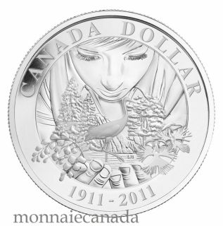 2011 - Proof Silver Dollar - 100th Anniversary of Parks Canada