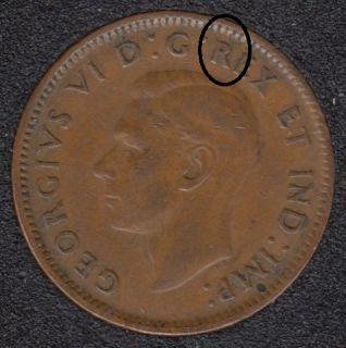 1943 - Break R to Rim - Canada Cent