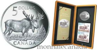 2004 $5 Fine Silver Moose Limited Edition Stamp & Coin Set - TAX EXEMPT