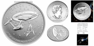 2016 - $20 - Star TrekTM- Fine Silver Coin – Enterprise
