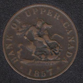 P.C. 1857 Bank of Upper Canada Half Penny PC-5D