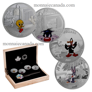 2015 - 4  Coins Set - $20 - 1 oz. Fine Silver and Wrist Watch – Looney TunesTM