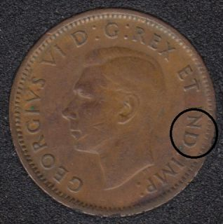 1945 - Double ND - Canada Cent