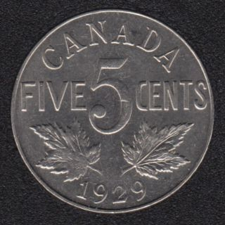 1929 - EF - Canada 5 Cents