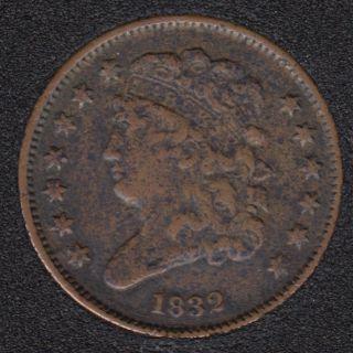 1832 - Classic Head Demi Cent