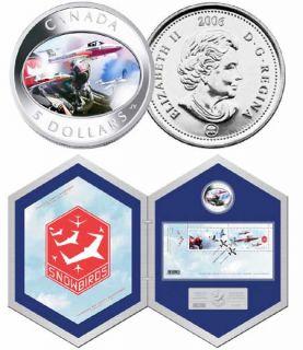 2006 -$5  - Snowbirds Hologram Fine Silver Coin & Stamp Set