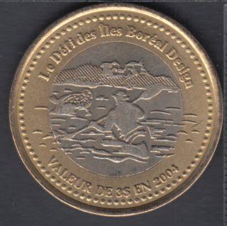 Trois-Pistoles / Les Basques - 2004 - Le Défi des Iles Boréales - (bimétal.) $3 Dollar de Commerce
